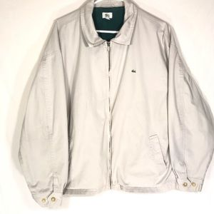 Men's LaCoste Tan Light Weight Jacket Size XL